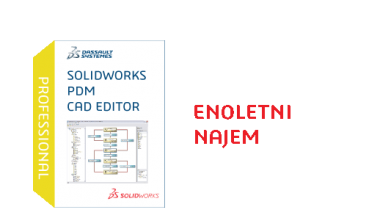 SOLIDWORKS PDM Professional CAD Editor Term License - 1 Year