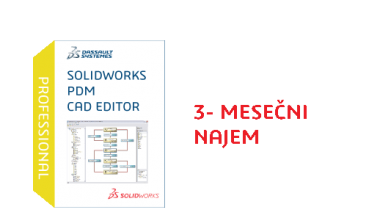 SOLIDWORKS PDM Professional CAD Editor Term License - 3 Month