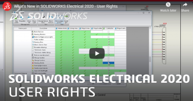 SOLIDWORKS Electrical 2020 - User Rights