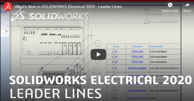 SOLIDWORKS Electrical 2020 - Leader Lines