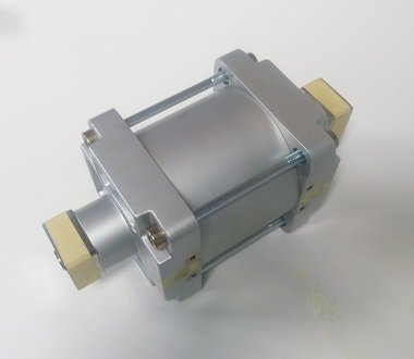 Pressure amplifier block for high pressure pump